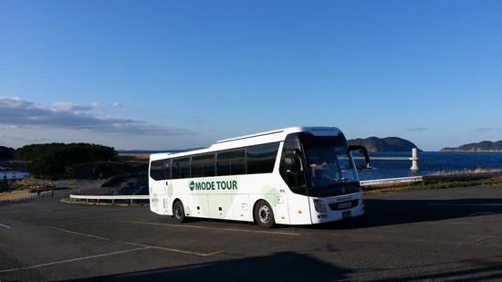 [포토 팡팡]4일동안 포근하게 규슈온천지 여행을 함께해 준 휼륭한 서원태 가이더와 모두투어 버스에 감사한다....