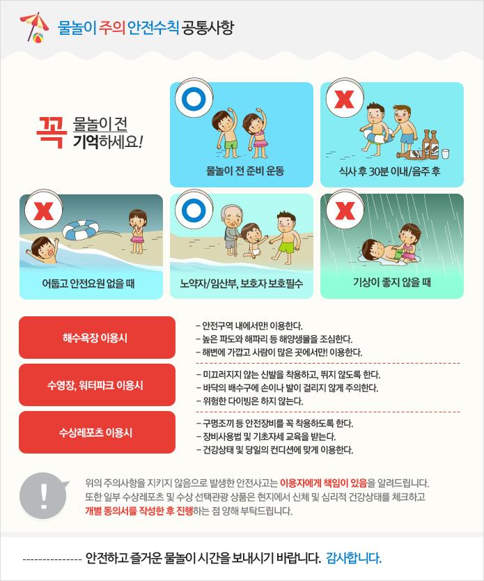 물놀이 안전수칙